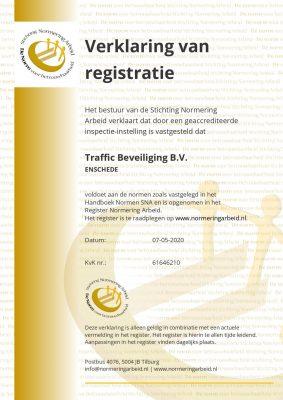 Certificaat Traffic beveiliging B.V.